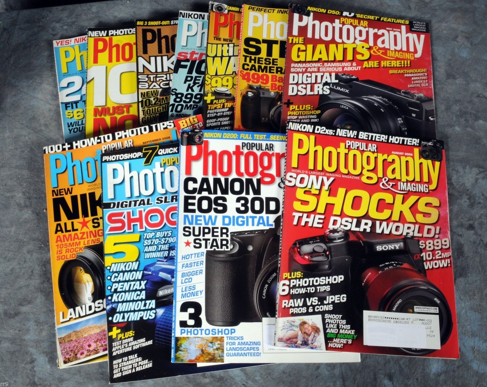 Primary image for Mixed Lot of 11 Magazines -  Popular Photogaphy (2006)