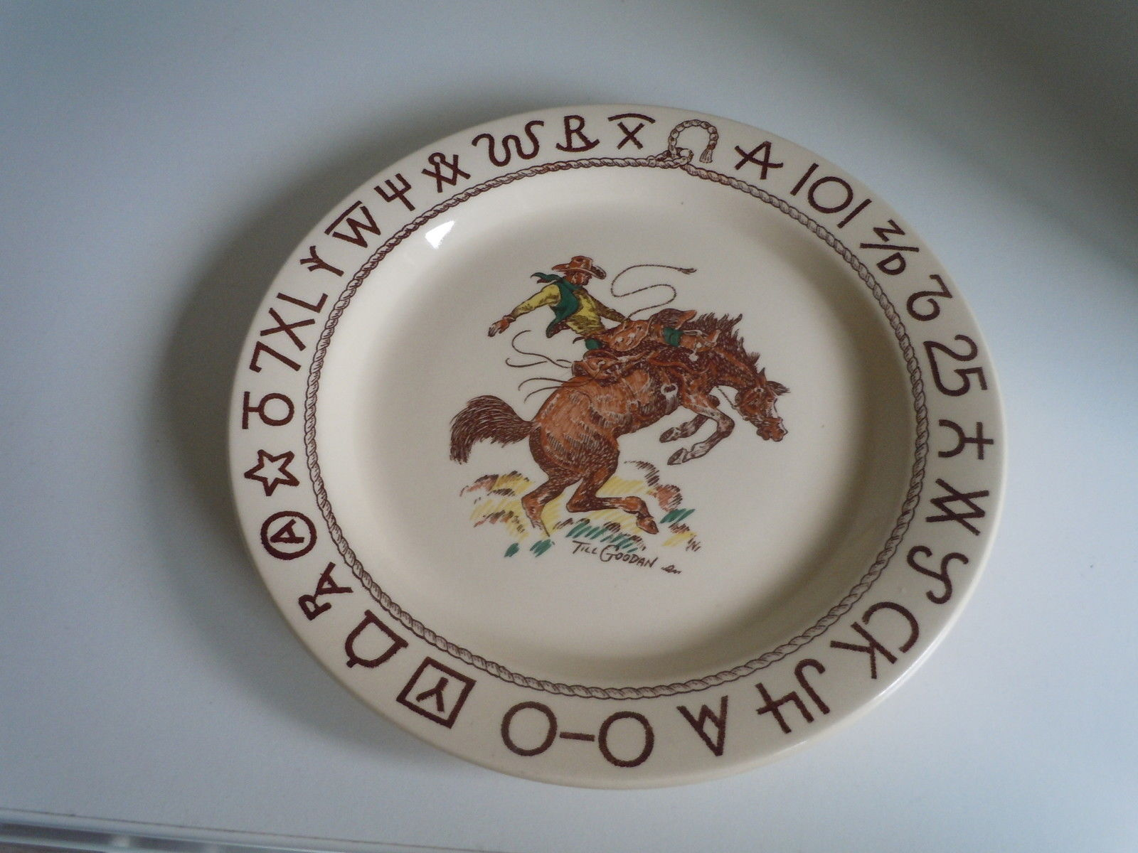 Wallace Rodeo Dinner plate ware