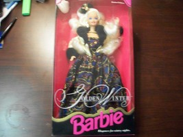 """STUNNING """"GOLDEN WINTER"""" LIMITED EDITION BARBIE DOLL MINT IN BOX - $13.86"""
