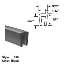 """Neoprene Rubber U-Channel Push-On Trim - Ht. 3/8"""" x Wd. 9/32"""" - Black - 10 ft - $63.56"""