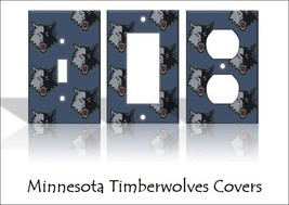 Minnesota Timberwolves Light Switch Covers Basketball NBA Home Decor Outlet - $6.92+