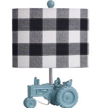 BLUE TRACTOR LAMP WITH SHADE - $107.91