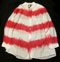 Young Fabulous & Broke Button Down Tie Dye Shirt - Flowy Oversized sz S - $17.32