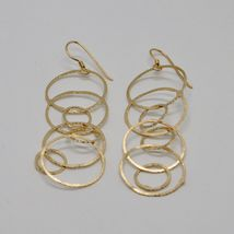 Drop Earrings 925 Silver Foil & Gold Circles by Mary Jane Ielpo Made in Italy image 4