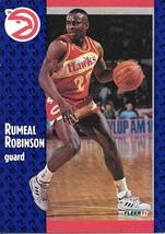 Rumeal Robinson ~ 1991-92 Fleer #3 ~ Hawks - $0.05