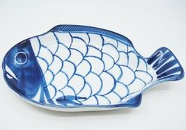"Dansk Arabesque Figural 11"" Fish Platter Cobalt Blue Very Good - $18.80"