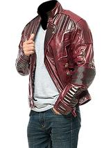 Star Lord Costume Guardians of Galaxy Vol 2 Chris Pratt Biker Leather Jacket image 2