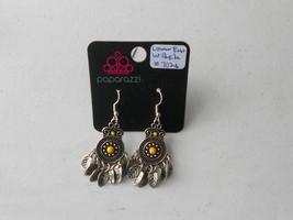 Paparazzi Earrings (New) Lower East Wildside #7026 - Yellow - $8.58