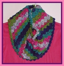 Multi Color Cowl Infinity Turquoise Neck Warmer Scarf Blue Pink Green Je... - €18,48 EUR