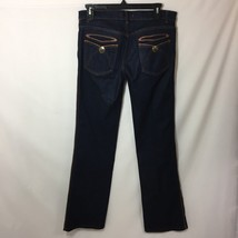 Roberto Cavalli Womens Jeans Size S 4 / 6 Leather Trim on Sides 33 Inseam - $75.69 CAD