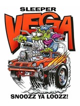 Sleeper Vega Ya Snooze Ya Lose Rat Fink Monster Big Daddy Ed Roth Metal ... - $34.95