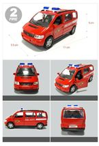 Fire Fighting Department Die-Cast Car Helicopter Tow Ladder Truck Vehicle Toy image 3