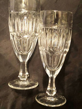 "2 Crystal Wine Glass  6-3/4"" Tall Stemmed Unique - $16.45"