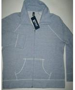 GEAR Sports Womens Track Sweatshirt Blue NWT Kangaroo Pockets Raglan Sle... - $12.82