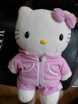 "Hello Kitty  Backpack Adjustable Strap 16"" Plush Soft Toy Stuffed Animal... - $9.99"