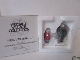 Dept 56 58890 Yes, Virginia Set Of 2 Accessory Figures D3 - $12.69