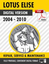 2004-2010 LOTUS ELISE FACTORY SERVICE REPAIR MANUAL OEM / PARTS MANUAL - $13.86