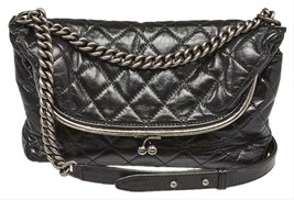 NEW $3400 Chanel 2015/16 Kisslock Miscellaneous Fold-Over Shoulder Bag - $2,596.93