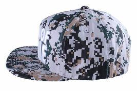 Hall Of Fame Chunk Heavy Embroidery Digi Camo Snapback Baseball Hat Cap NWT image 5
