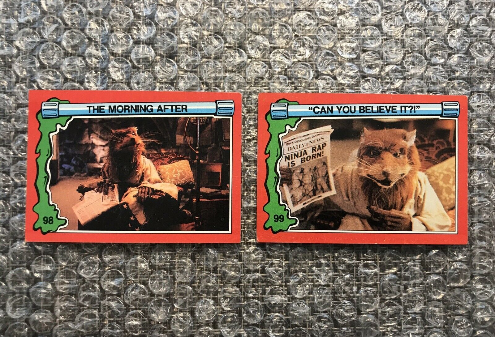 Primary image for 1991 Topps Teenage Mutant Ninja Turtles TMNT II Movie Cards Lot: #98 & #99