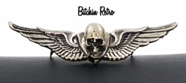 Vintage Winged Scull Pin 1976 from MM Limited Chicago   Biker Chopper Go... - $63.00