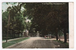 Hyde Park Road Poughkeepsie New York 1908 postcard - $5.94