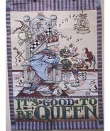 """Mary Englebreit Tapestry """"Its Good To Be Queen"""" 35 x 25 Wall Hanging Dec... - $59.99"""