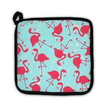 Potholder, Pattern With Pink Flamingos - $27.44