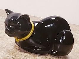 Avon 1.5 OZ Heres My Heart Eau De Cologne Glass Decorative Black Cat Dec... - $16.47