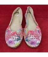 NEW Gianni Bini Jeweled Diamond Faux Multi-Color Flat Slip-On Shoe Women... - $19.79