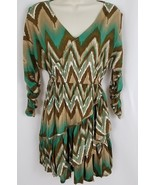 Ariat Womens Western Dress XS Brown Aqua Southwest Rodeo Cowgirl Tiered ... - $29.99