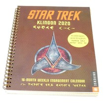 """2020 Star Trek Klingon Planner Weekly Grid Calendar 6 3/4"""" x 9"""" - $10.26"""