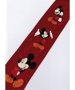 Mickey Mouse Disney 3 Pose Handsome RED Cartoon Novelty Fancy Neck Tie - $12.99