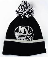 New York Islanders Reebok KT52Z NHL Hockey Pom Pom Black Knit Beanie Toq... - $20.85
