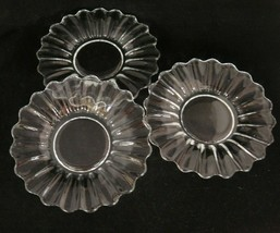 """Vintage Heisey Crystolite Clear Glass 7.25"""" Salad Plates Lot of 3 Plain Center - $14.10"""