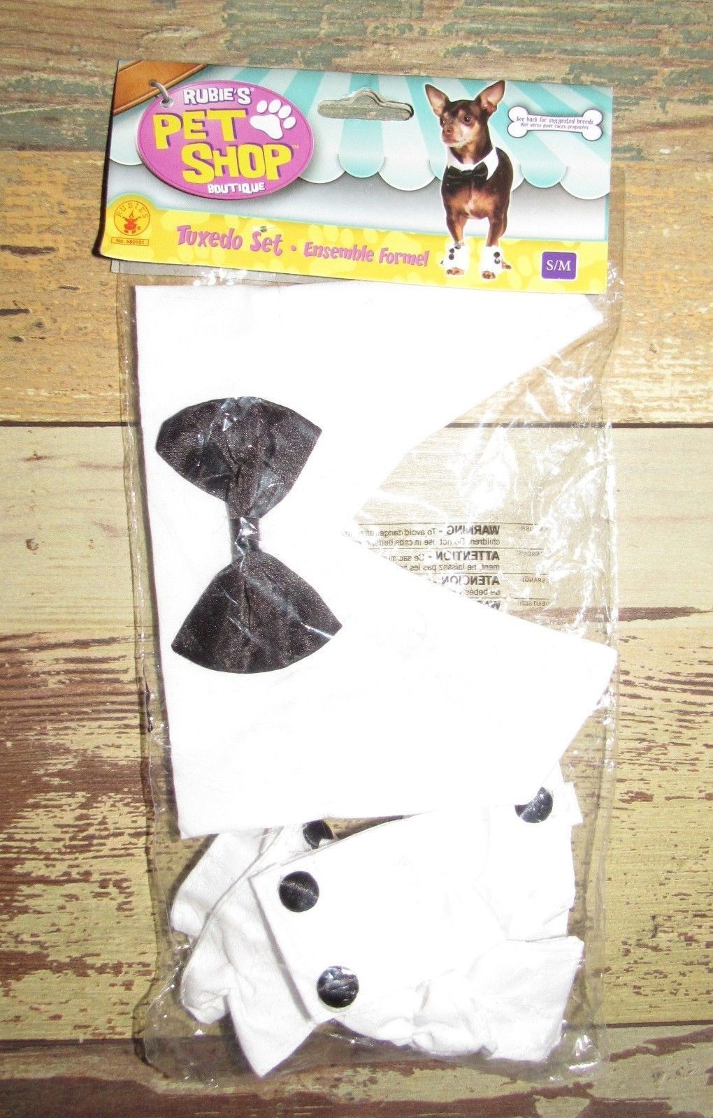 Pet Shop Boutique Animal Tuxedo Set Sz S/M New