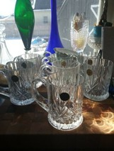 Cristal d'Arques Chantilly Taille Beaugency Mugs 7 Crystal Glass Clear Mug - $34.60