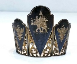 """Siam Sterling Wide Bracelet 7 1/4"""" - $85.55"""