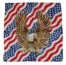 """Wholesale Lot 6 22""""x22"""" USA American Waving Flag Eagle Bandana - $14.88"""