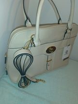 $129 Gianni Bernini Turnlock Glazed Dome Satchel Ivory (Ivory). new with tags image 5