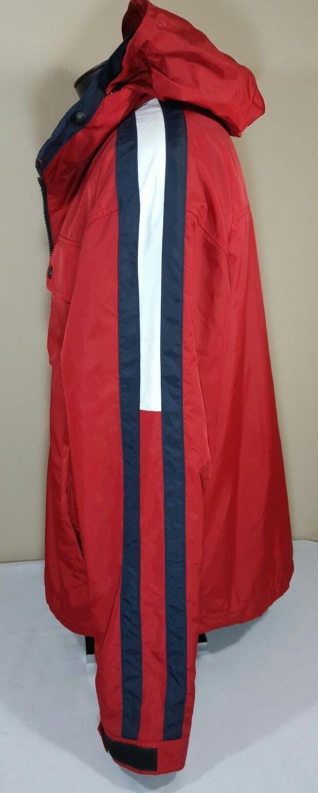 VTG Tommy Hilfiger Jacket Flag Windbreaker Colorblock 90's Spell Out XL Coat image 7