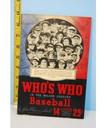 1946 Who's Who in the Major League Baseball 14t... - $32.52