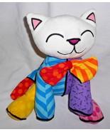 "Britto Pop Plush Kahlo Kitty Cat Plush Stuffed Animal 11"" Bow Tie Colorf... - $24.73"