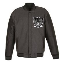Las Vegas Raiders JH Design Wool & Leather Reversible Throwback Jacket 2 Logos - $219.99
