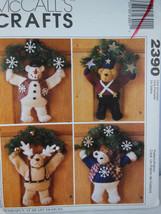 "McCall's 2390 Crafts Pattern Warm Fuzzy Winter 14"" Bear Wreaths UNCUT Sm... - $4.15"