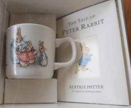 Wedgwood Beatrix Potter PETER RABBIT Book & Porcelain Mug Set Nursery Ch... - $12.38