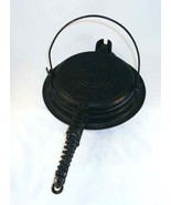 1922 Cast Iron American No. 8 PATT. No. 151 Griswold Ball Joint Waffle M... - $130.00