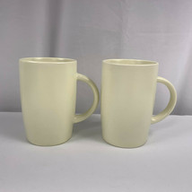 2011 Starbucks Coffee Mugs Plain Smooth Cream Color 11.8 Fl Oz Lot of Two - $17.77