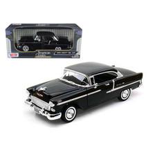 1955 Chevrolet Bel Air Hard Top Black 1/18 Diecast Car Model by Motormax... - $62.79