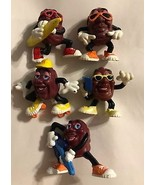 """5 DIFFERENT VINTAGE """"CALIFORNIA RAISINS"""" FROM THE 1980's (L@@K AT PICTUR... - $9.86"""